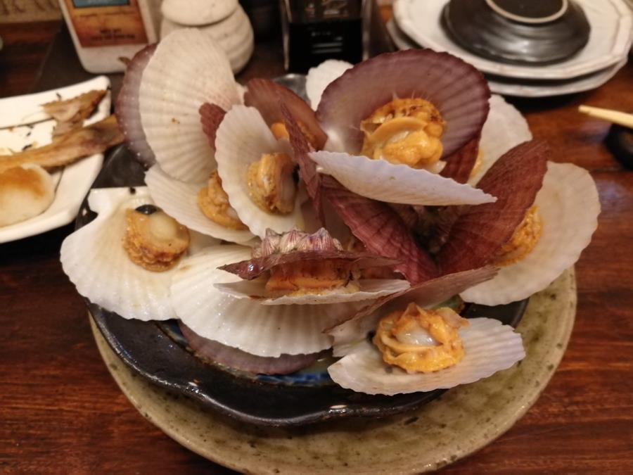 帆立の稚貝バター醤油焼き