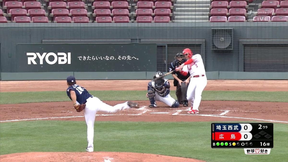 鈴木誠也オープン戦2号ホームラン